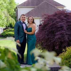 ColetteMonCheri Dresses - Emerald/hunter green strapless prom dress